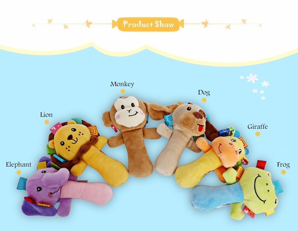Sozzy Cartoon Plush Baby Handbell Toy