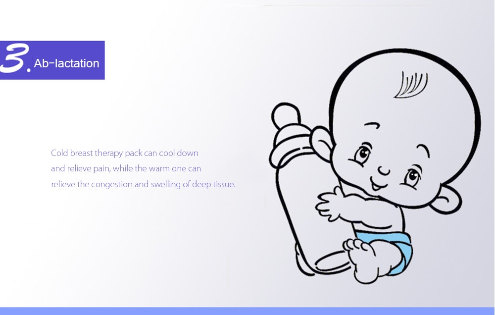 RealBubee 2pcs Mummy 3 in 1 BPA Free Pregnancy Lactation Ablactation Hot Cold Breast Therapy Pack