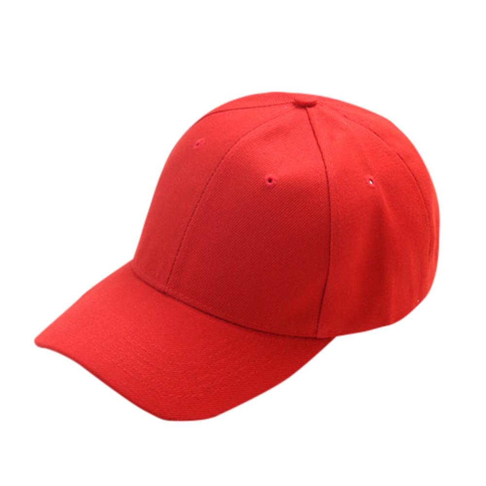 0e773728c42fe Generic jiuhap store Summer Hat Cap Children Teenagers Hat Show Solid Kids  Hat Boys Girls Hats Caps-Red