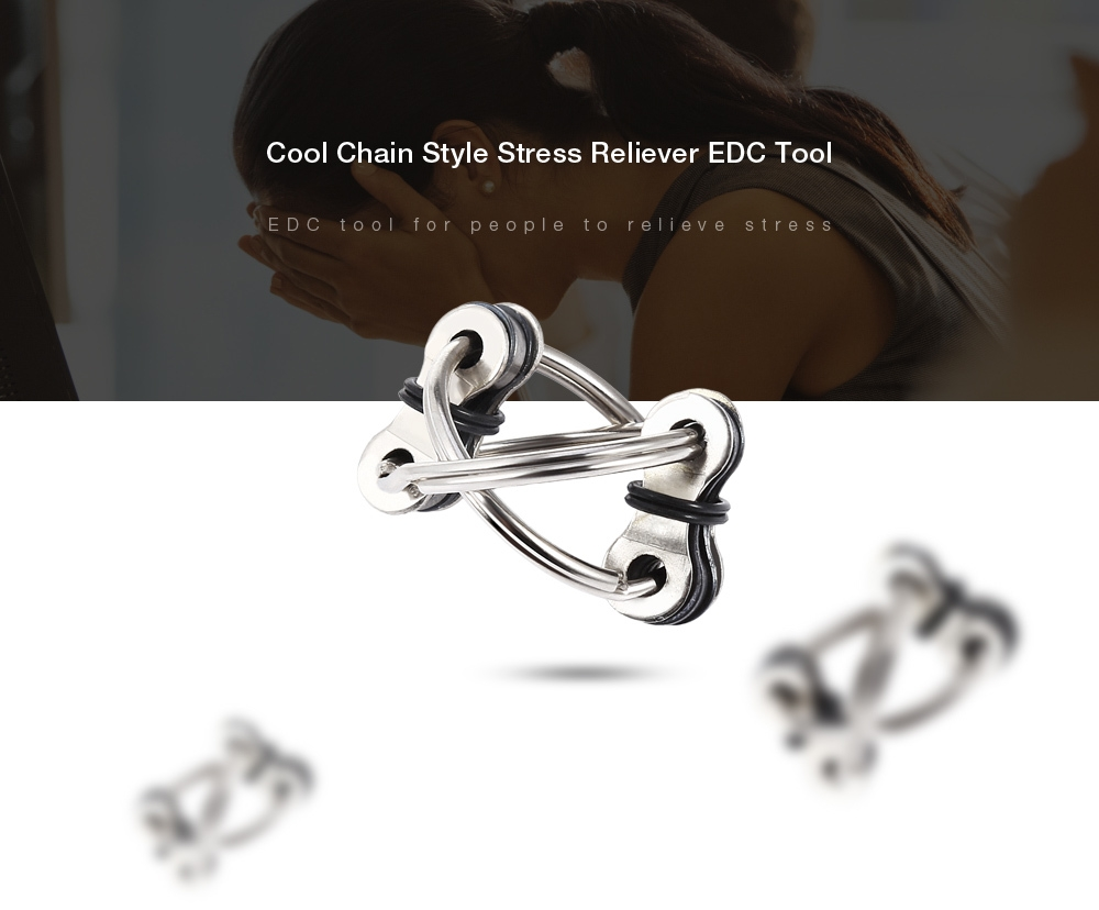 Chain Puzzle Style Stress Reliever EDC Pressure Reducing Toy for Office Worker
