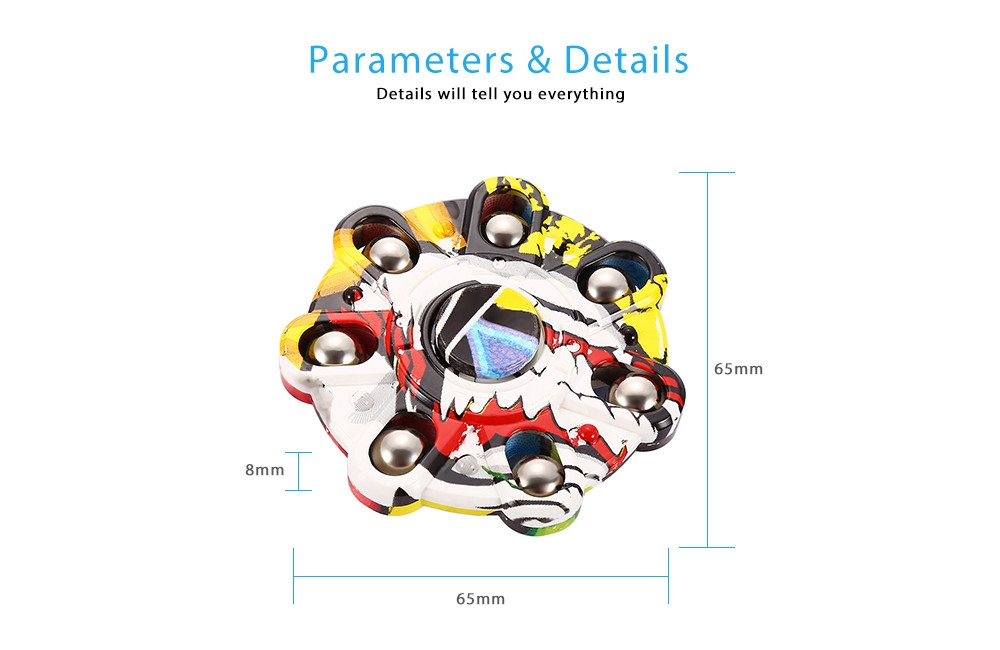 Creative Graffiti Round Finger Spinner Stress Reliever Anxiety Reducer Hand Toy