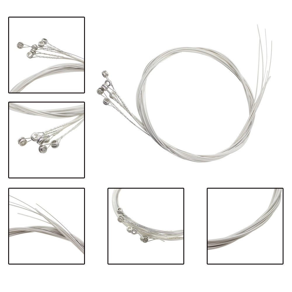 IRIN A104 6Pcs Acoustic Guitar Silver String Musical Instrument Accessory