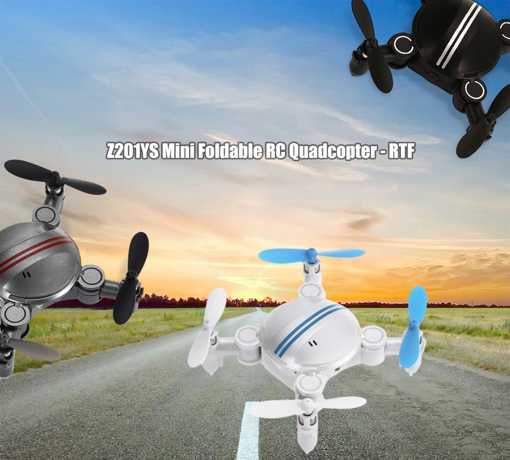 Z201YS Mini Foldable RC Drone RTF WiFi FPV / 0.3MP Camera / 2.4GHz 4CH 6-axis Gyro / Air Press Altitude Hold / Headless Mode