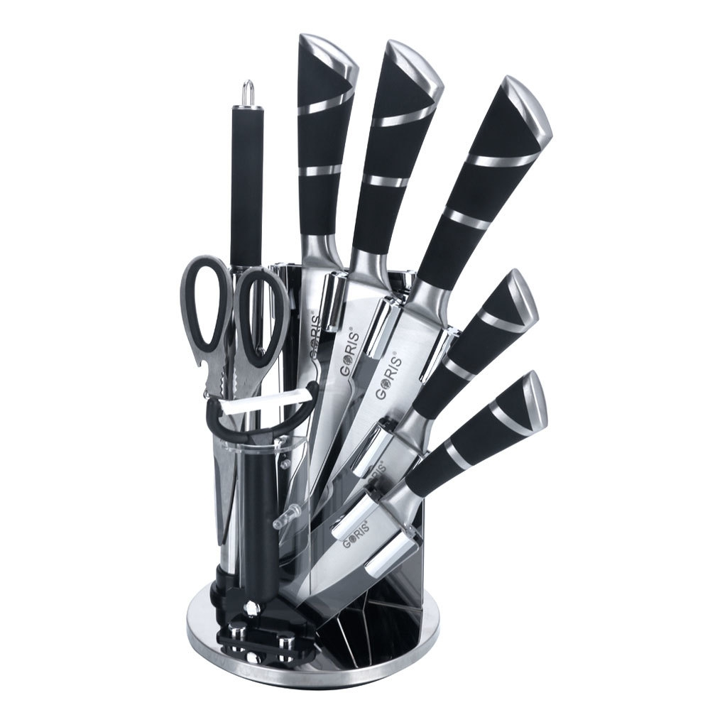 kitchen knives online buy new goris 9pcs stainless steel kitchen cutlery knife set black online jumia uganda 1569