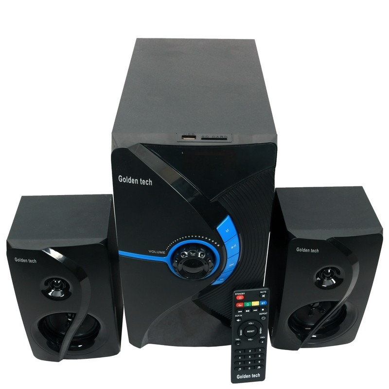 GoldenTech GT-111BT Multimedia Speaker System 2.1 USB SD Card Reader Bluetooth and FM Radio  Woofer black 10000w GT-111BT 1