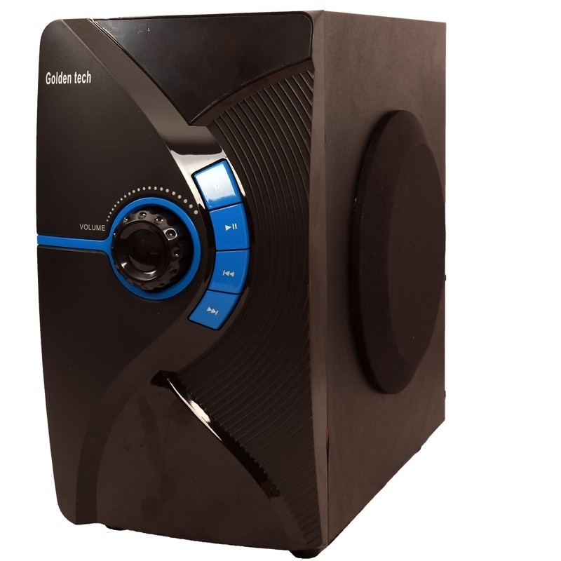 GoldenTech GT-111BT Multimedia Speaker System 2.1 USB SD Card Reader Bluetooth and FM Radio  Woofer black 10000w GT-111BT 5