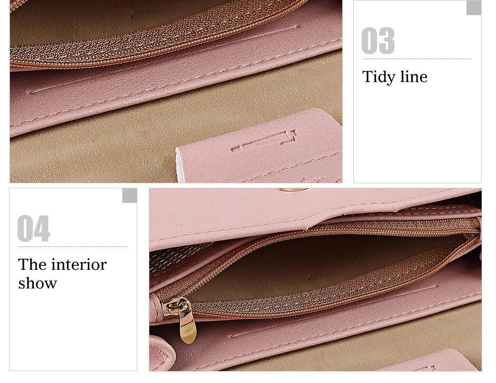 Trendy Pure Color PU Women Envelope Clutch