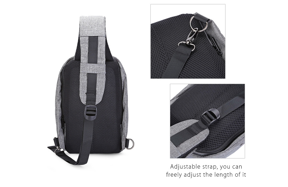 ... Guapabien Sling Shoulder Chest Bag for Men with USB Charging Port  Headphone Hole ... 776a11ed6332a