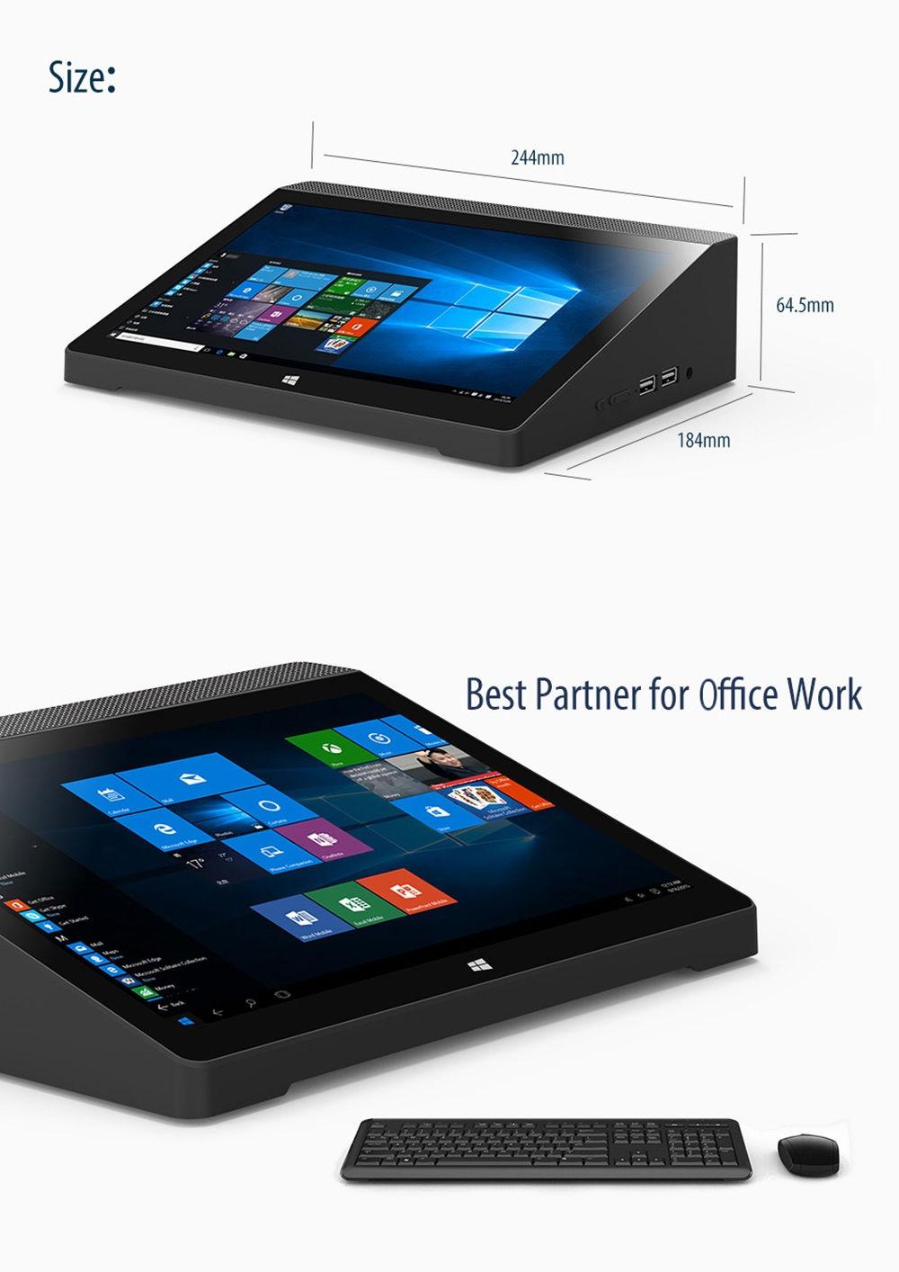 HIGOLE GOLE10 Mini PC Intel Atom X5-Z8350 CPU Windows 10 OS BT 4.0
