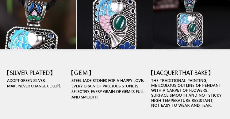 N010-C Ladies Carp Pattern National Style Necklace