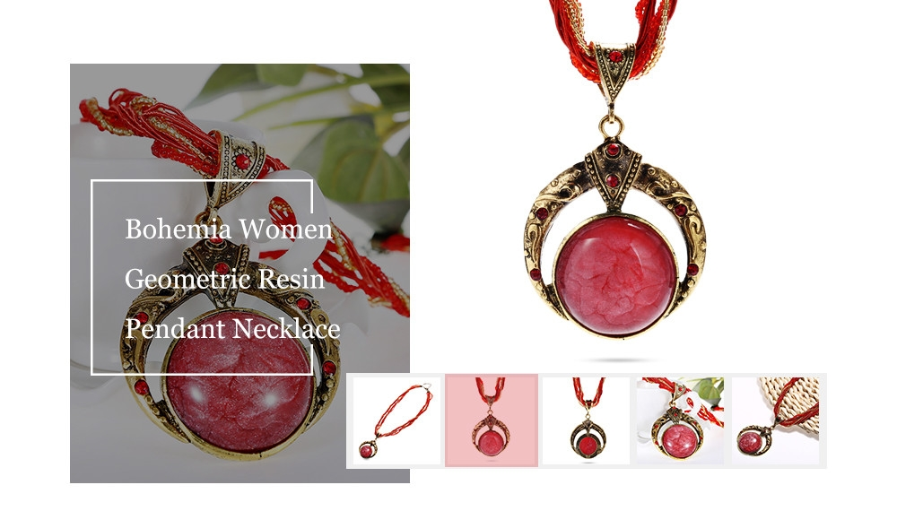 Bohemia Women Geometric Pendant Necklace