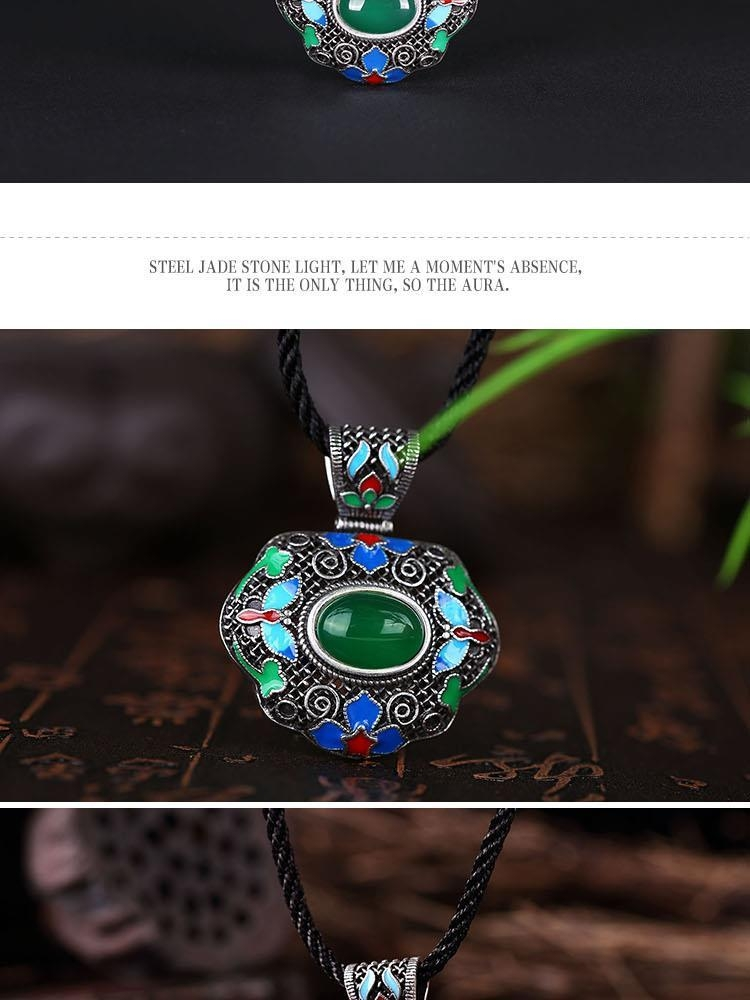 N009-C Women Butterfly Pattern National Style Necklace