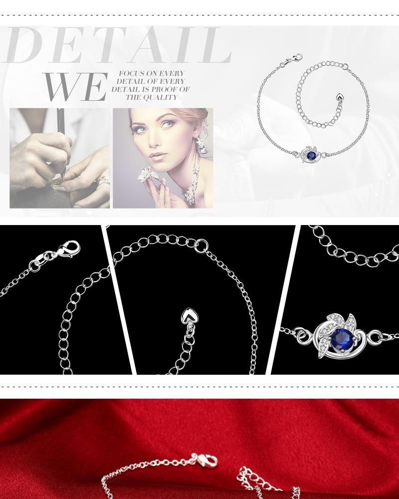 A033-A Delicate Handmade Silver Plated Anklet