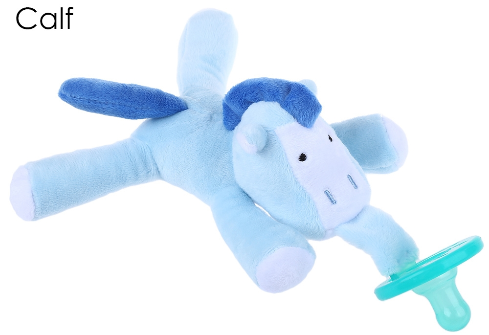 Lovely Infant Animal Silicone Nipple Cuddly Plush Toy