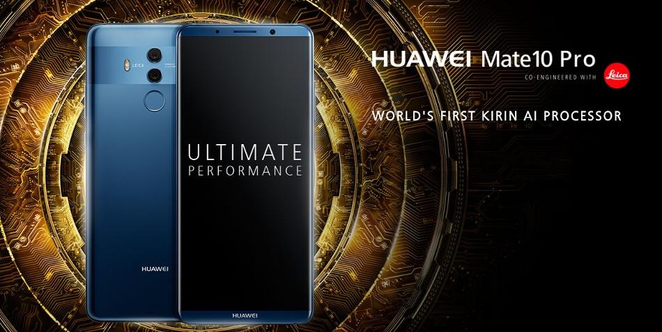 HUAWEI Mate 10 Pro 6.0 inch Dual Rear Camera 6GB RAM 128GB ROM Kirin 970 Octa core 4G Smartphone