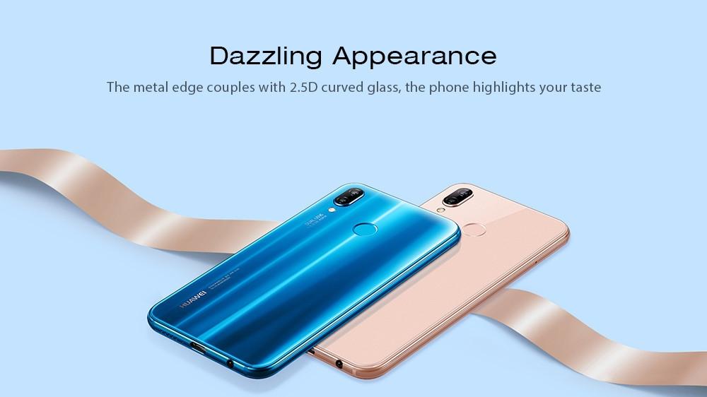 HUAWEI Nova 3e / P20 Lite全球固件4G Phablet 5.84英寸Android 8.0 Kirin 659 Octa Core 2.36GHz 4GB RAM 128GB ROM