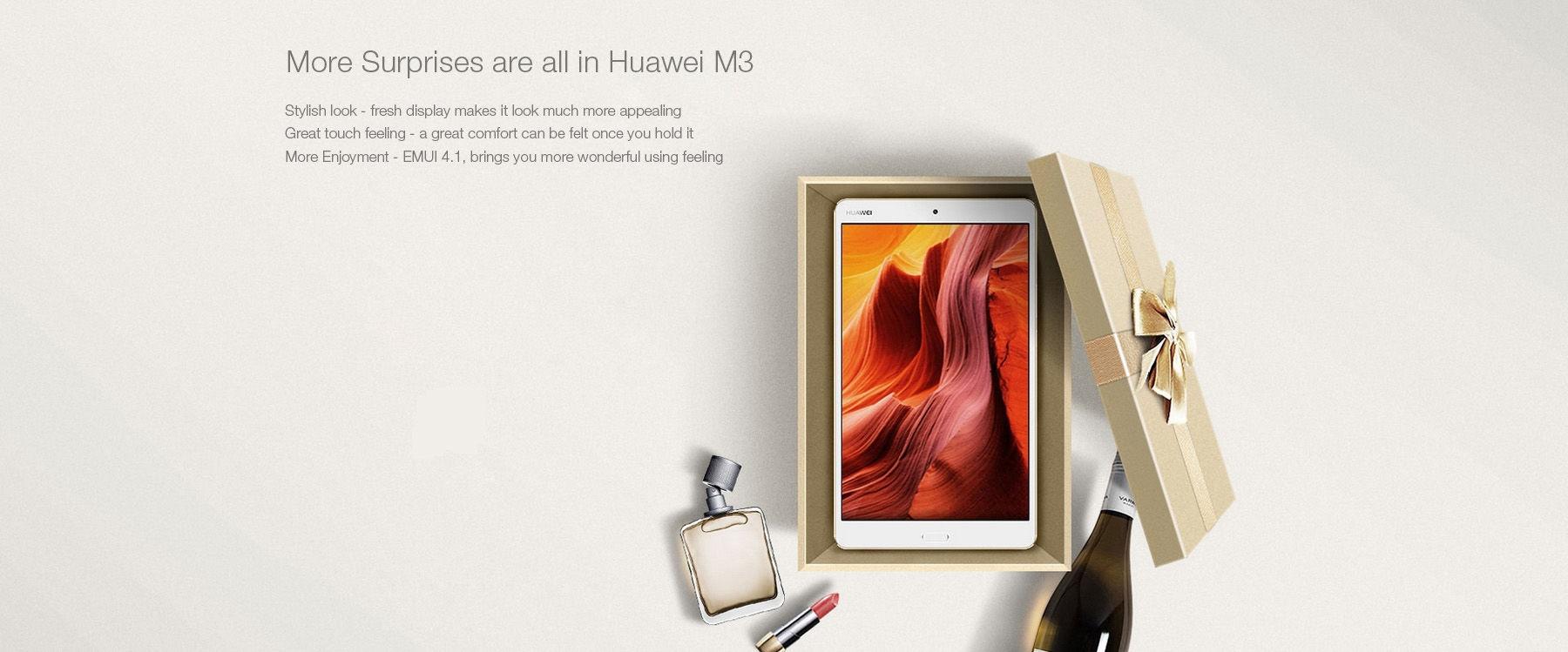 Huawei M3 ( BTV-W09 ) 8.4 inch 2K IPS Screen Tablet PC Android 6.0 Kirin 950 Octa Core 2.3GHz 4GB RAM 32GB ROM Dual WiFi 5100mAh Battery Bluetooth 4.1