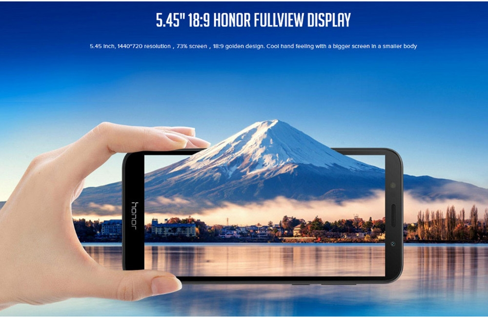 HUAWEI Honor 7S ( DUA - L22 ) 4G Smartphone 5.45 inch Android 8.1.0 MT6739 Quad Core 1.5GHz 2GB RAM 16GB ROM 13.0MP Rear Camera 3020mAh Built-in