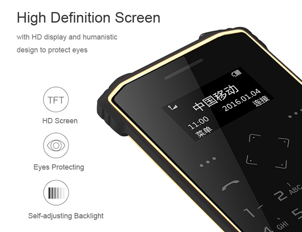 iMAN S1 PRO 1.0 inch Full Touch Dual Band Card Phone IP67 Waterproof Bluetooth 3.0 Pedometer FM Audio Player