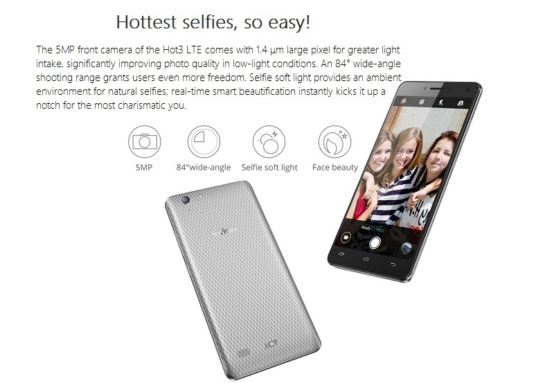 Infinix HOT3 LTE Specifications