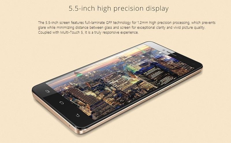 Hot3 LTE 5.5 inch display