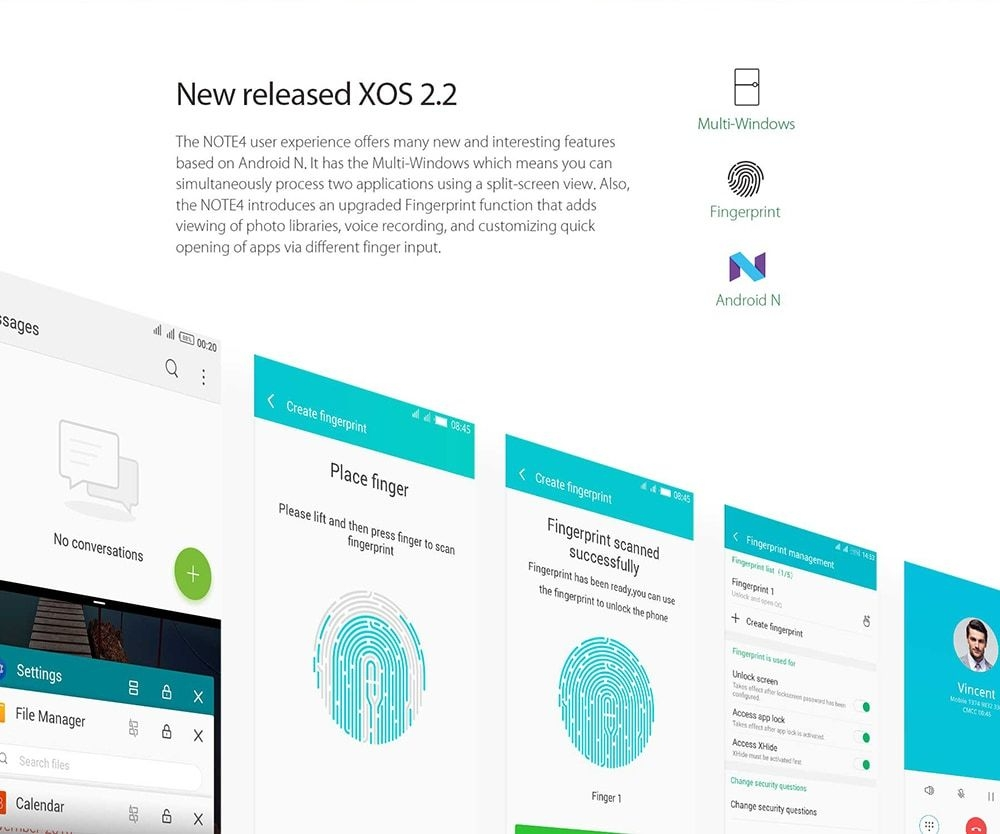 Infinix Note 4 ( X572 ) 4G Phablet Global Version Android 7.0 5.7 inch MTK6753 Octa Core 1.3GHz 3GB RAM 32GB ROM 13.0MP Rear Camera Fingerprint Scanner - Black