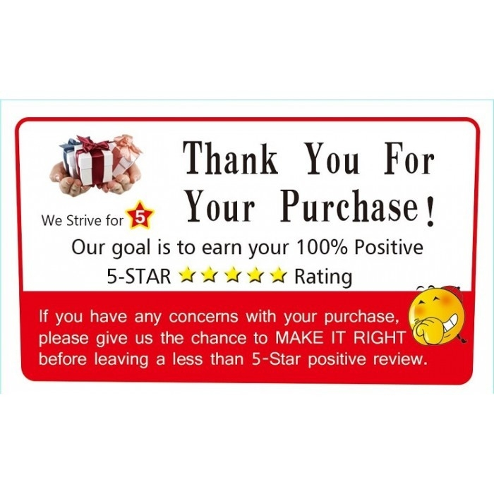 Thank You & Rating Sticker Use With Courier / flyer & Fragile ...