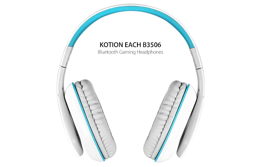 kotion each b3506 wired wireless bluetooth pro gaming headphones white blue buy online. Black Bedroom Furniture Sets. Home Design Ideas
