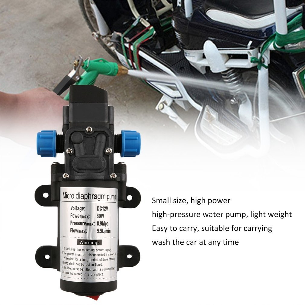 Kokobuy Portable DC12V 80W High Pressure Electric Water Pump