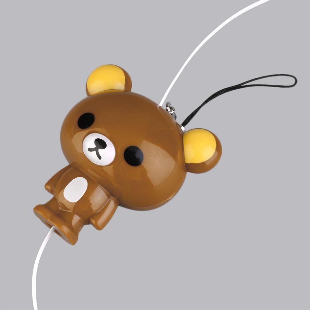 Buy Kokobuy New Cute Cartoon Brown Bear Earphones In-Ear Wired 3.5mm ...