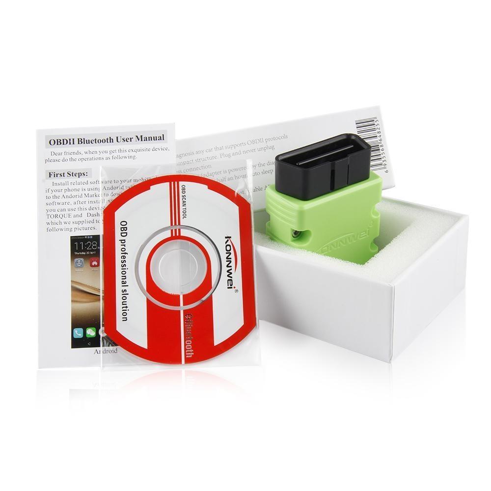 Buy Konnwei Kw902 Bluetooth Elm327 V15 Chip Pic18f25k80 Obd2 Scan Tool Wiring Diagram 1x Kw903 Wifi Scanner Software Cd English User Manual