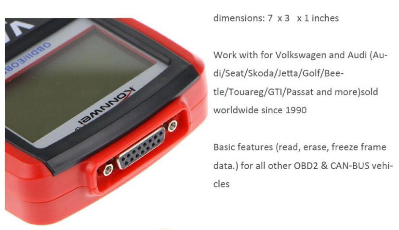 Konnwei KW809 OBD2 Scanner Car Diagnostic Code Reader CAN