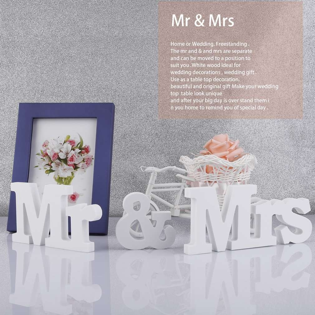 Cocobuy white mr mrs wooden letters for wedding for Home decorations on jumia