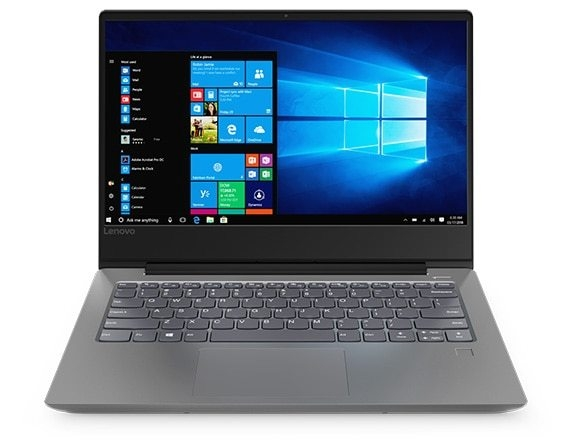 Lenovo Ideapad 330S (14, AMD), front view, open, showing display, keyboard, and touchpad.