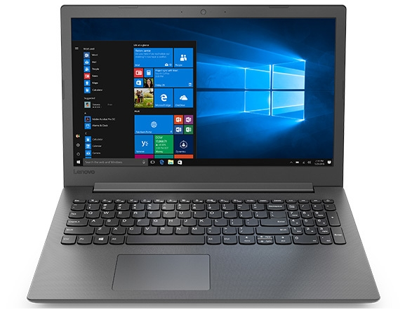 Lenovo Ideapad 130 (15), front view showing display, keyboard, and touchpad.