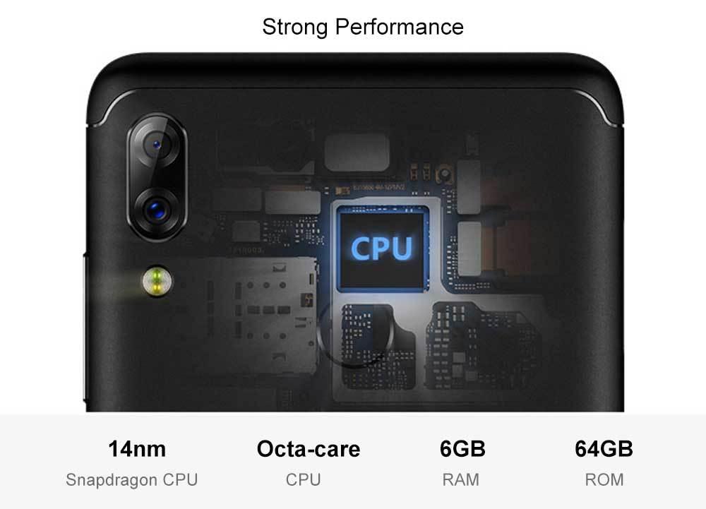 Lenovo K5 Pro 4G Phablet 5.99 inch Android 8.1 / ZUI Snapdragon 636 Octa Core 1.8GHz 6GB RAM 64GB ROM 16.0MP + 5.0MP Front Camera Fingerprint Sensor 4050mAh Built-in