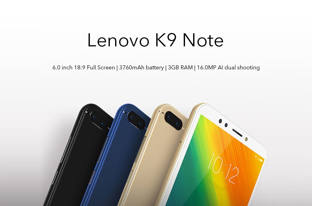 Lenovo K9 Note 4G 6 0 inch Android 8 1 3GB RAM 32GB ROM