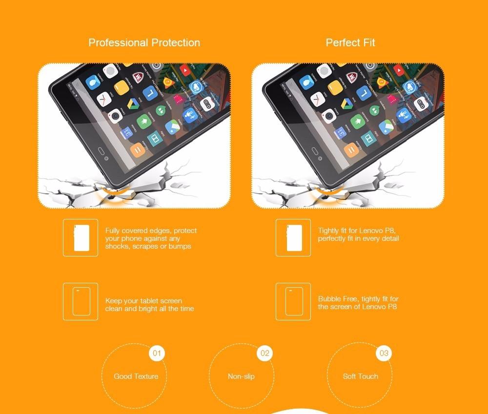 Lenovo Lenovo P8 ( TAB3 8 Plus ) Soft Back Case + Screen