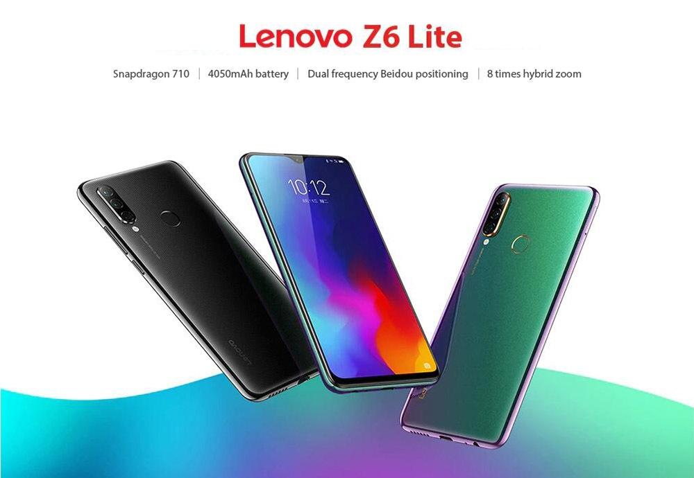 Original Lenovo Z6 Lite Snapdragon 710 Octa Core Triple Back Cams 6.3 Inch 19.59 Water Drop 4050mAh Smartphone (1)