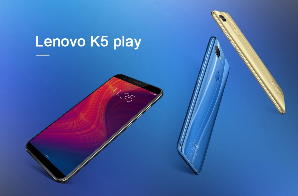 Lenovo K5 play 4G Phablet 5.7 inch Android O MSM8937 Octa Core 3GB RAM 32GB ROM