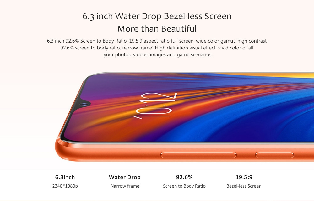 Lenovo Z5s 4G Phablet 6.3 inch Android P Qualcomm Snapdragon 710 Octa Core 2.2GHz + 1.7GHz 6GB RAM 128GB ROM 16.0MP + 8.0MP + 5.0MP Rear Camera 3300mAh Battery
