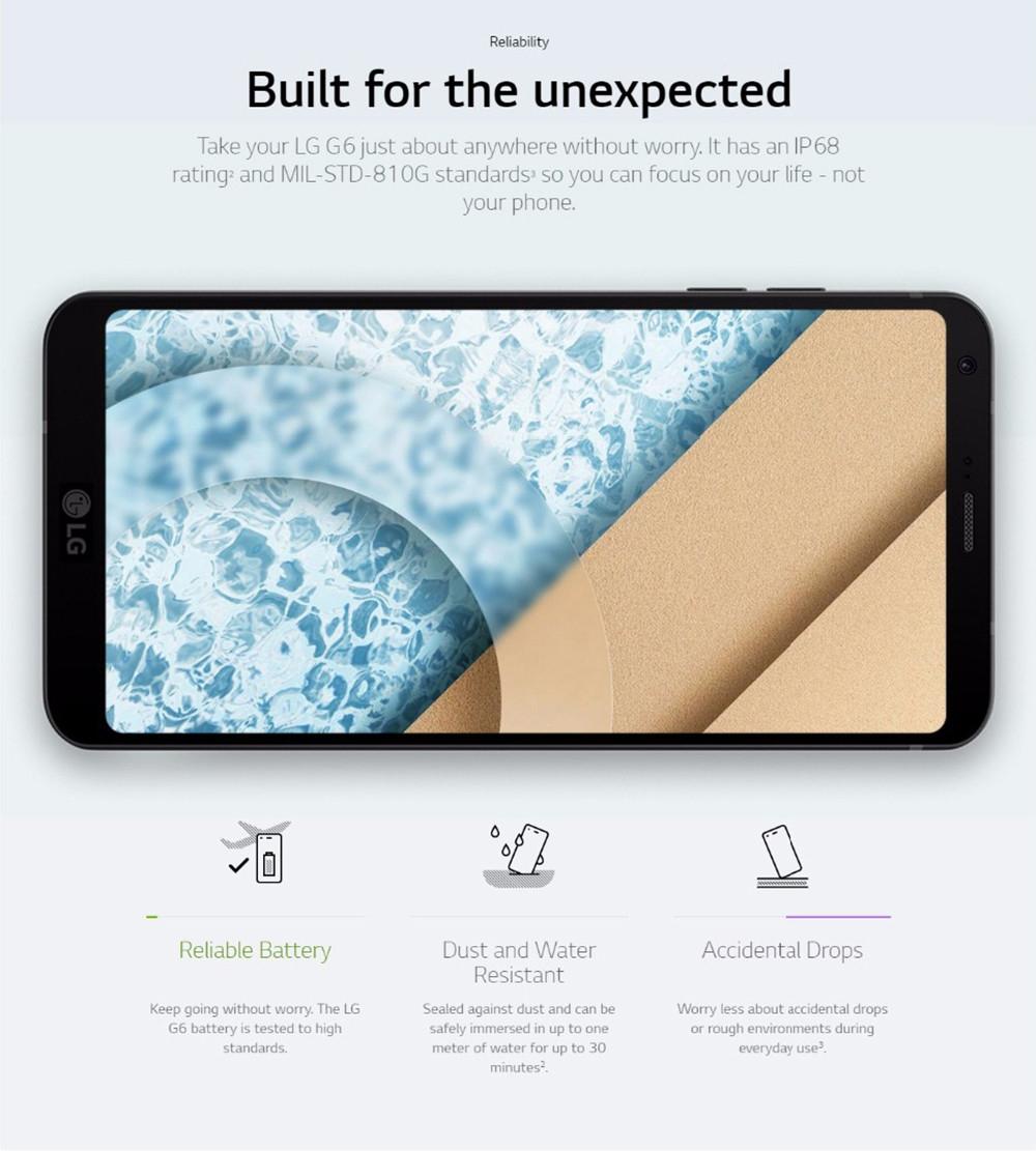 LG LG G6 Quad Core 5 7 Inches 4GB RAM 32GB ROM 4G Mobile Phone
