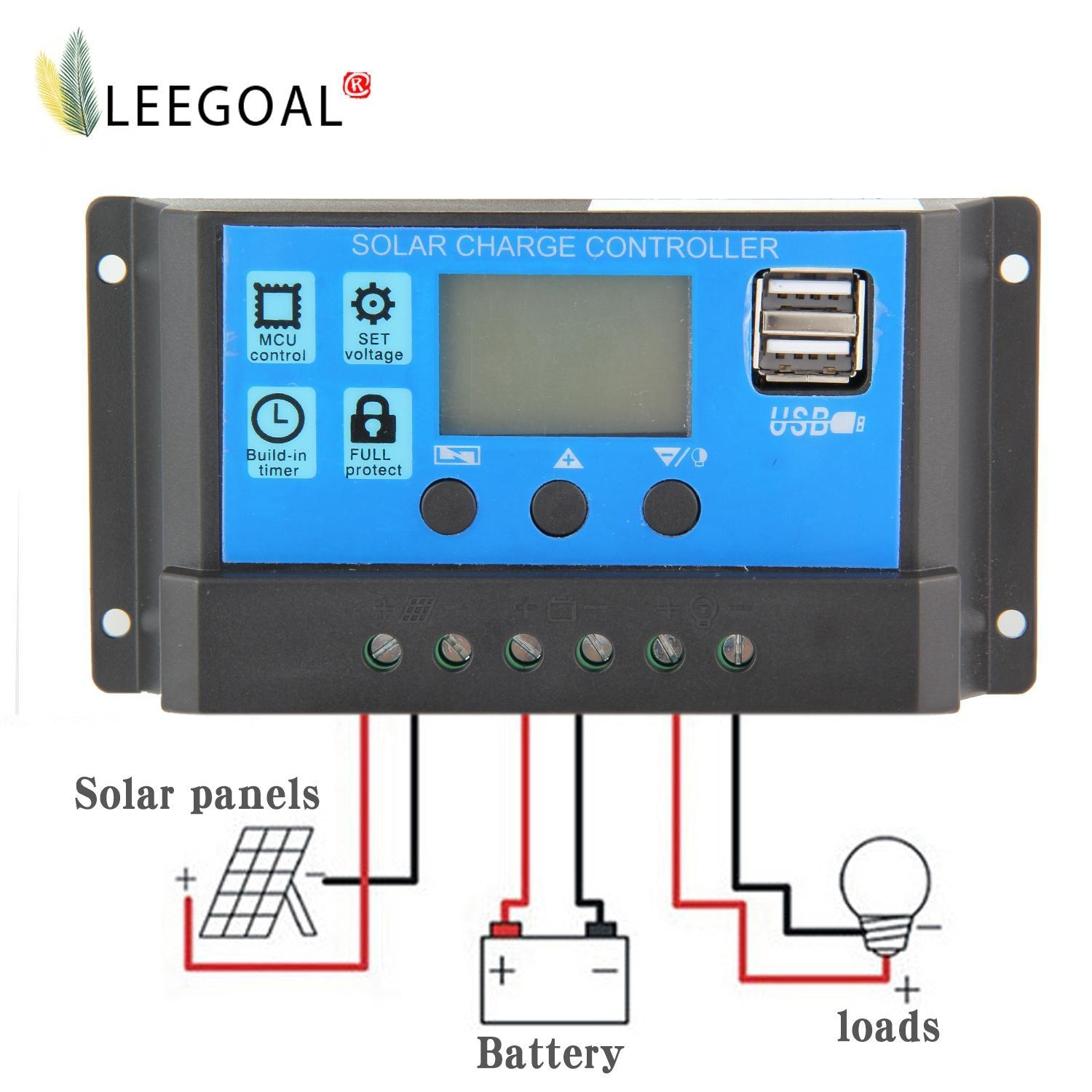 Buy Louis Will 10a Solar Charger Controller Panel Battery Circuit Consumer To The Charge Regulator Plus And Minus Reverse Order Applies When Deinstalling An Improper Sequence Can Damage