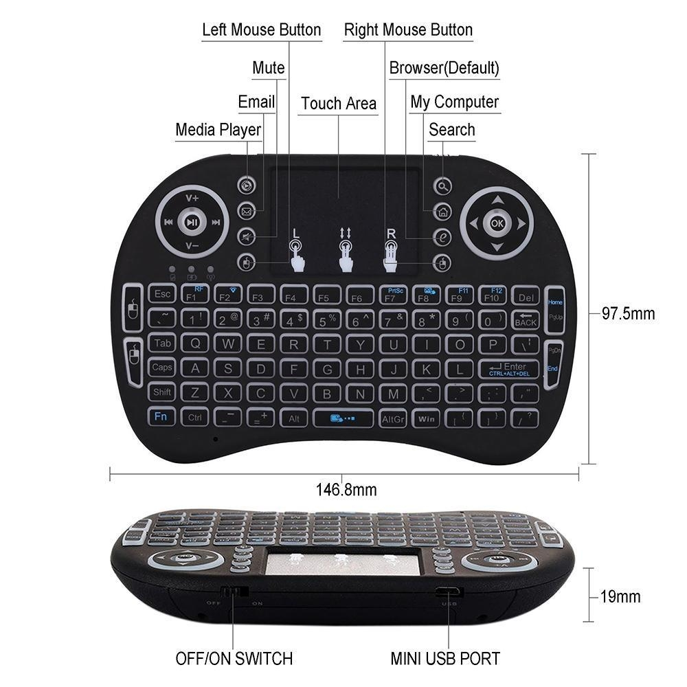 Wireless Backlight Keyboard with Touchpad for. Source · Note: This device .