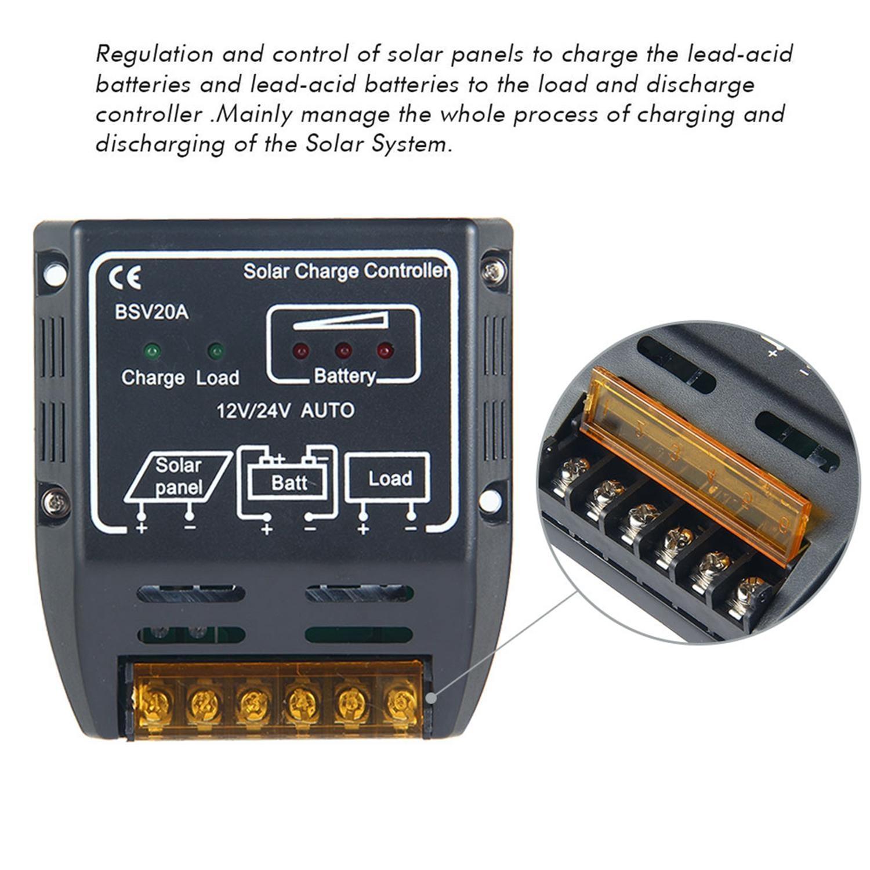 Buy Louis Will 20a 12v 24v Solar Charge Controller Panel Charger Circuit Over Discharge Protection108v 216v Recover 123v 246v Max Open Voltage Of The Panel25v 36v