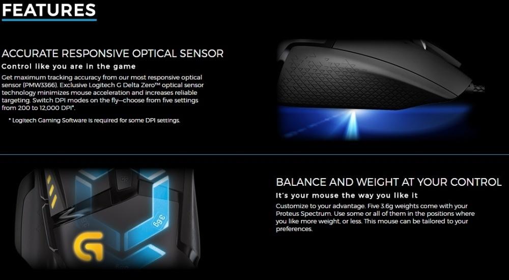 b22fc0c4194 Logitech G502 Proteus Spectrum Gaming Mouse HT @ Best Price Online ...