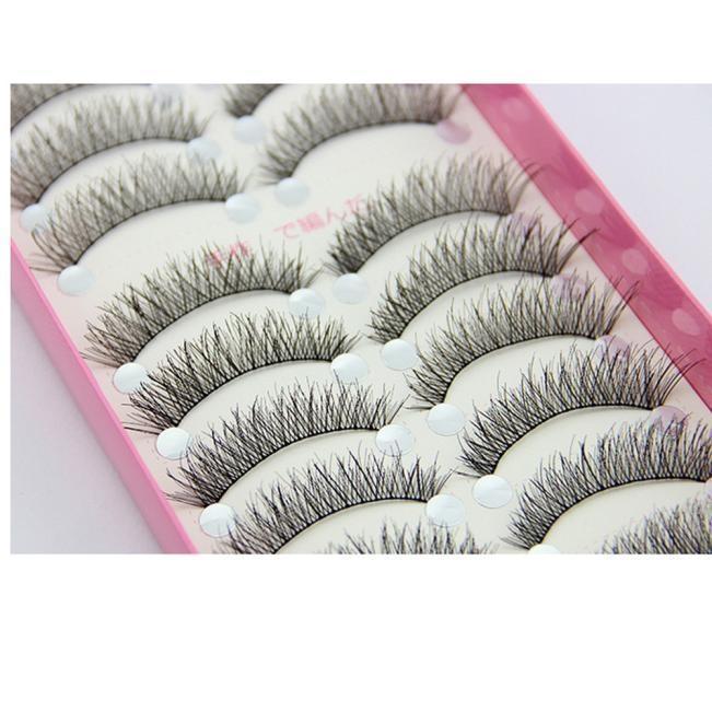Buy Luxury 10 Pairs Fashion False Eyelashes Eyelash Make Up Hand