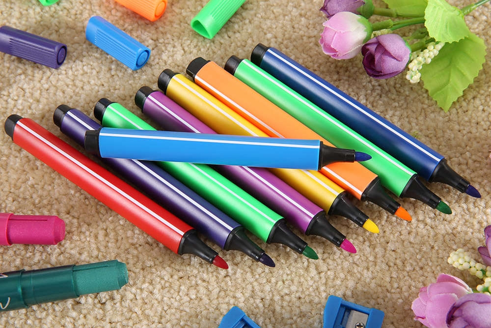Marco 1232 24 Colors Washable Triangle Pole Water-color Pen Marker