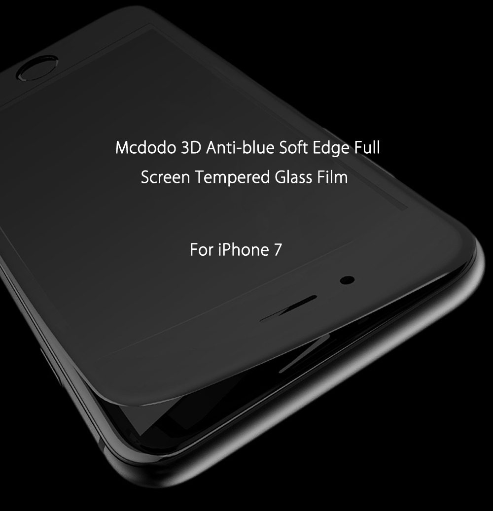 Mcdodo 3D Anti-blue Soft Edge Full Screen Tempered Glass Film for iPhone 7