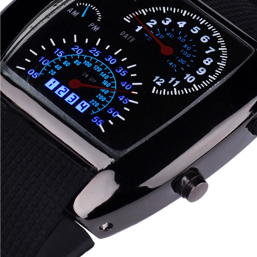 Buy Mcykcy Fashion Aviation Turbo Dial Flash Led Watch Gift Mens